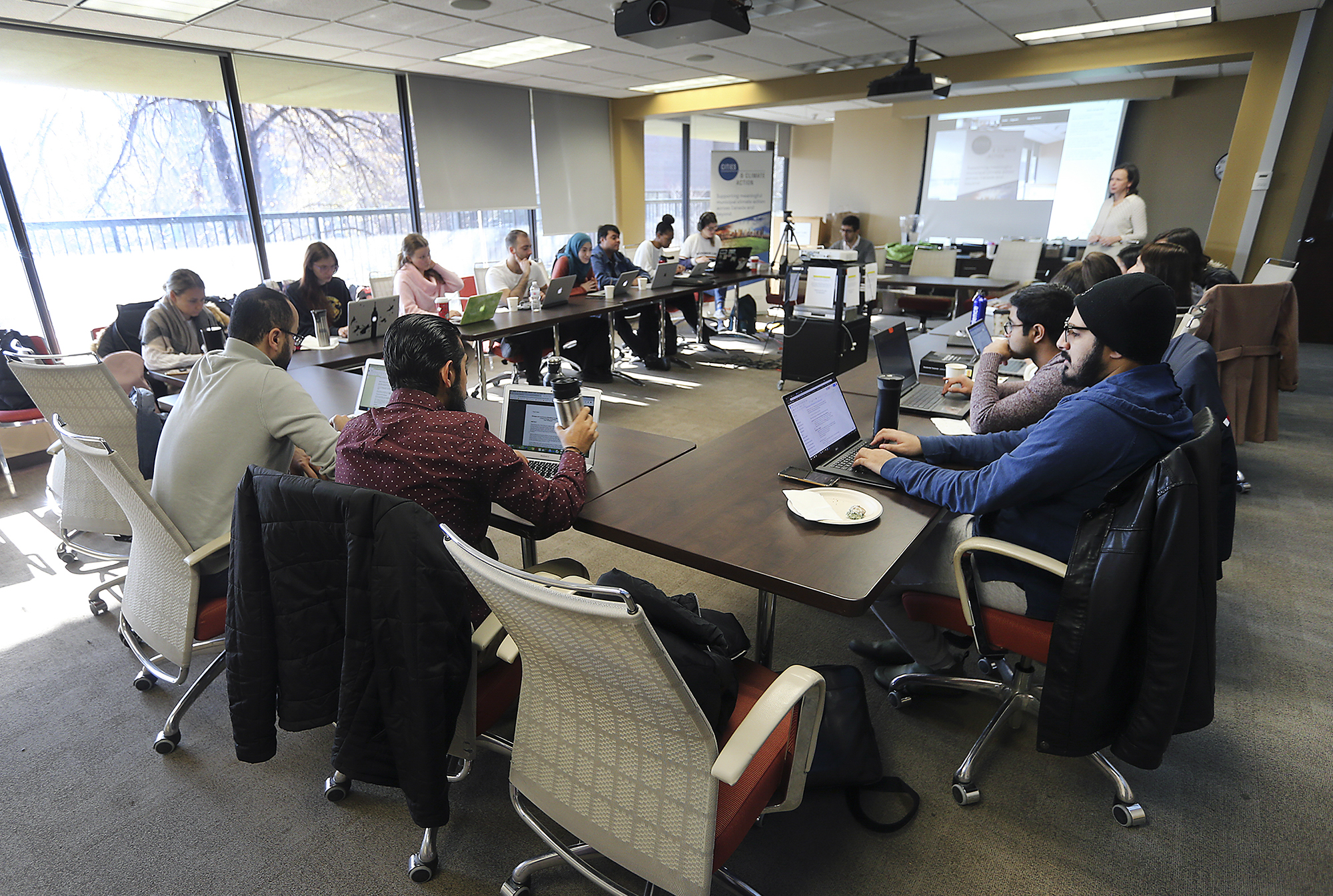 Photo of Windsor Law students participate in a national research-a-thon on municipalities and climate action
