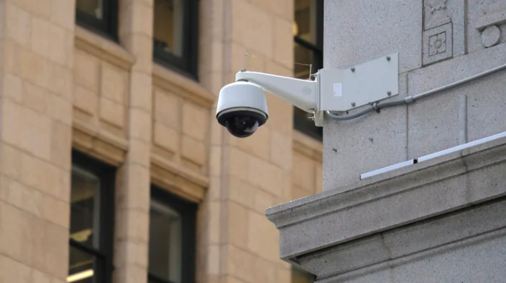 In this photo taken Tuesday, May 7, 2019, is a security camera in the Financial District of San Francisco. San Francisco is on track to become the first U.S. city to ban the use of facial recognition by police and other city agencies as the technology creeps increasingly into daily life. ( (Eric Risberg/The Associated Press)