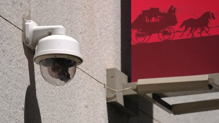 This photo taken Tuesday, May 7, 2019, shows a security camera in the Financial District of San Francisco. San Francisco is on track to become the first U.S. city to ban the use of facial recognition by police and other city agencies as the technology creeps increasingly into daily life. (Eric Risberg/Associated Press)