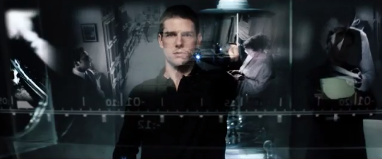 Screen shot from movie Minority Report