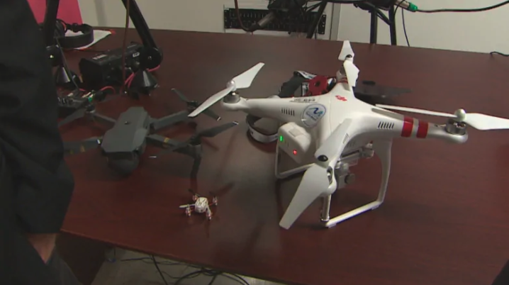 Drones come in a variety of sizes, with different licences available for their operation. (Anthony Germain/CBC News)