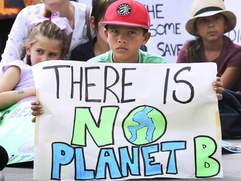 Young participants are shown during the Earth Strike Windsor event on Friday, September 27, 2019 at the Charles Clark Square. It was put on in conjunction with the Global Climate Strike.