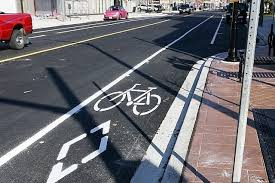 bike lane on side of road