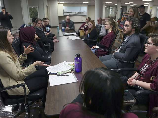 Leamington DHS students work with local councillors and municipal staff at the 10 December Windsor Essex High School Climate Summit