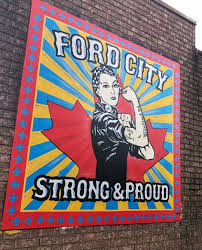 A mural in Ford City