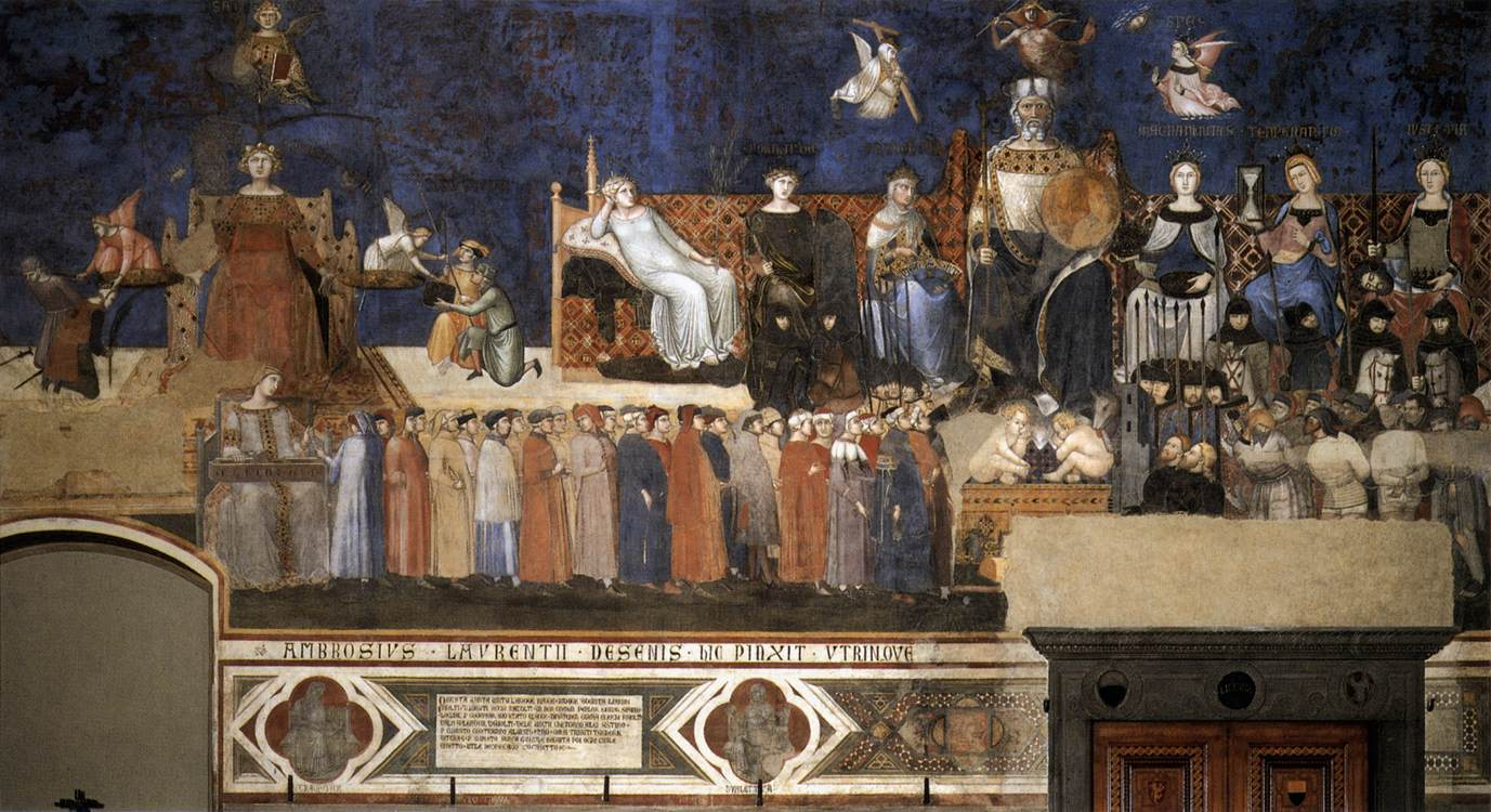 Allegory of the Good Government 1338-40 Fresco Palazzo Pubblico, Siena